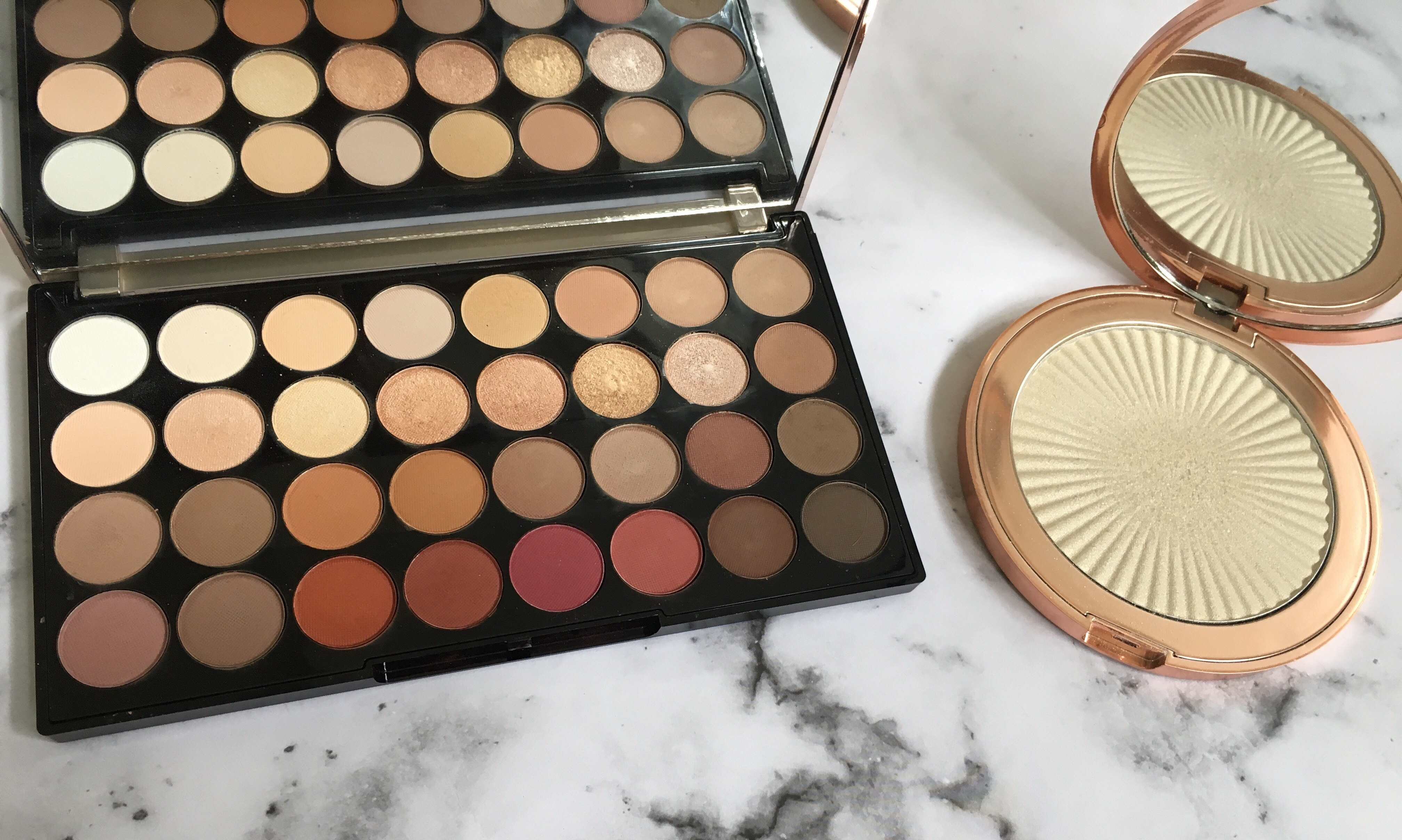 Makeup Revolution Flawless 3 Eyeshadow Palette and Makeup Revolution Skin Kiss in Ice Kiss