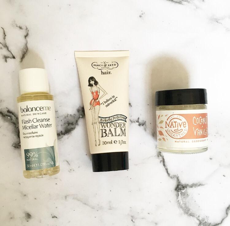 birchbox july 2017 micellar water, heat defence balm and natural deodorant