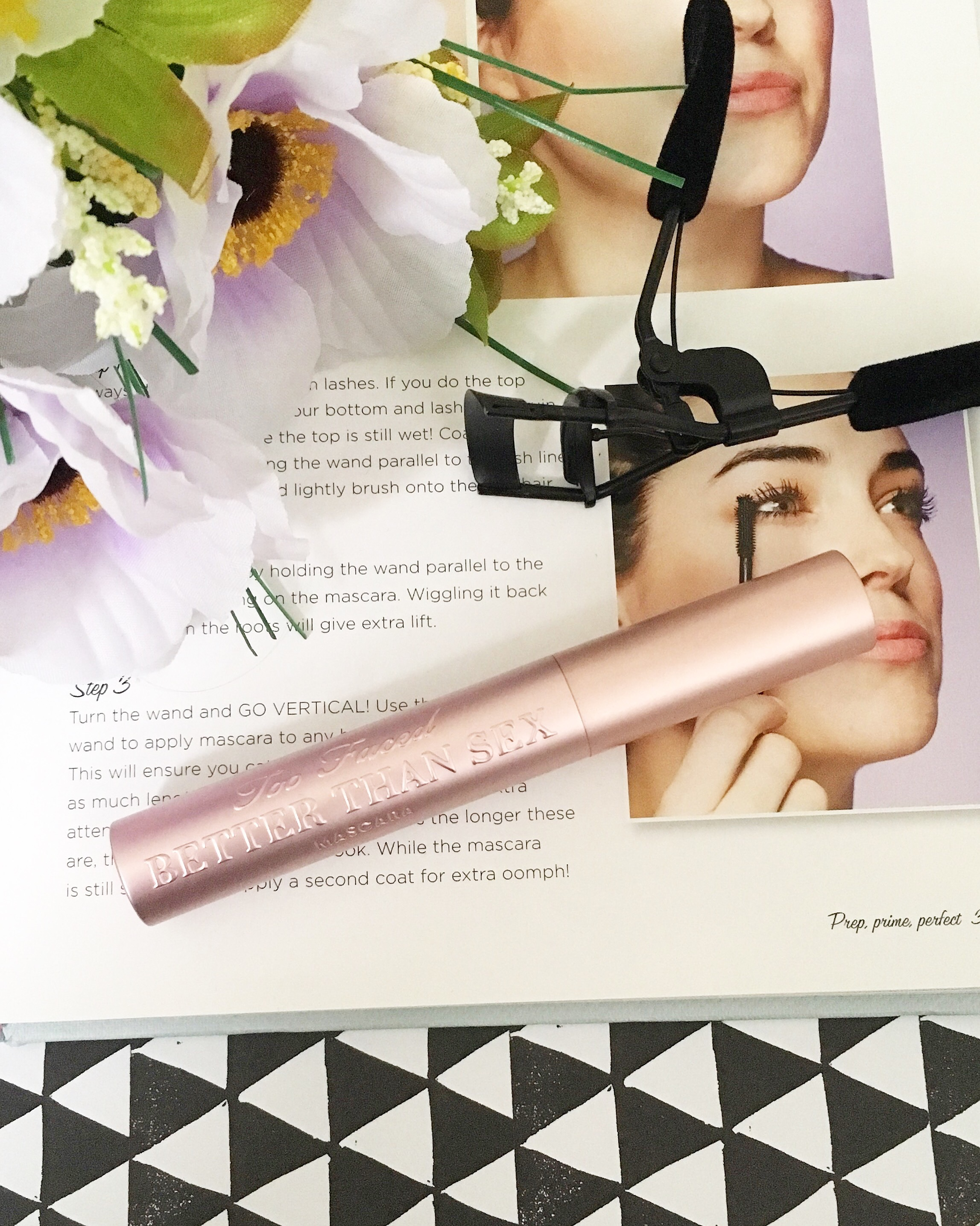 Too-Faced 'Better than Sex' mascara and eyelash curler