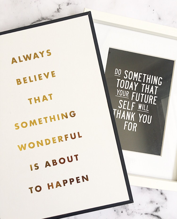 always believe that something wonderful is about to happen canvas & do something today that your future self will thank you for quote