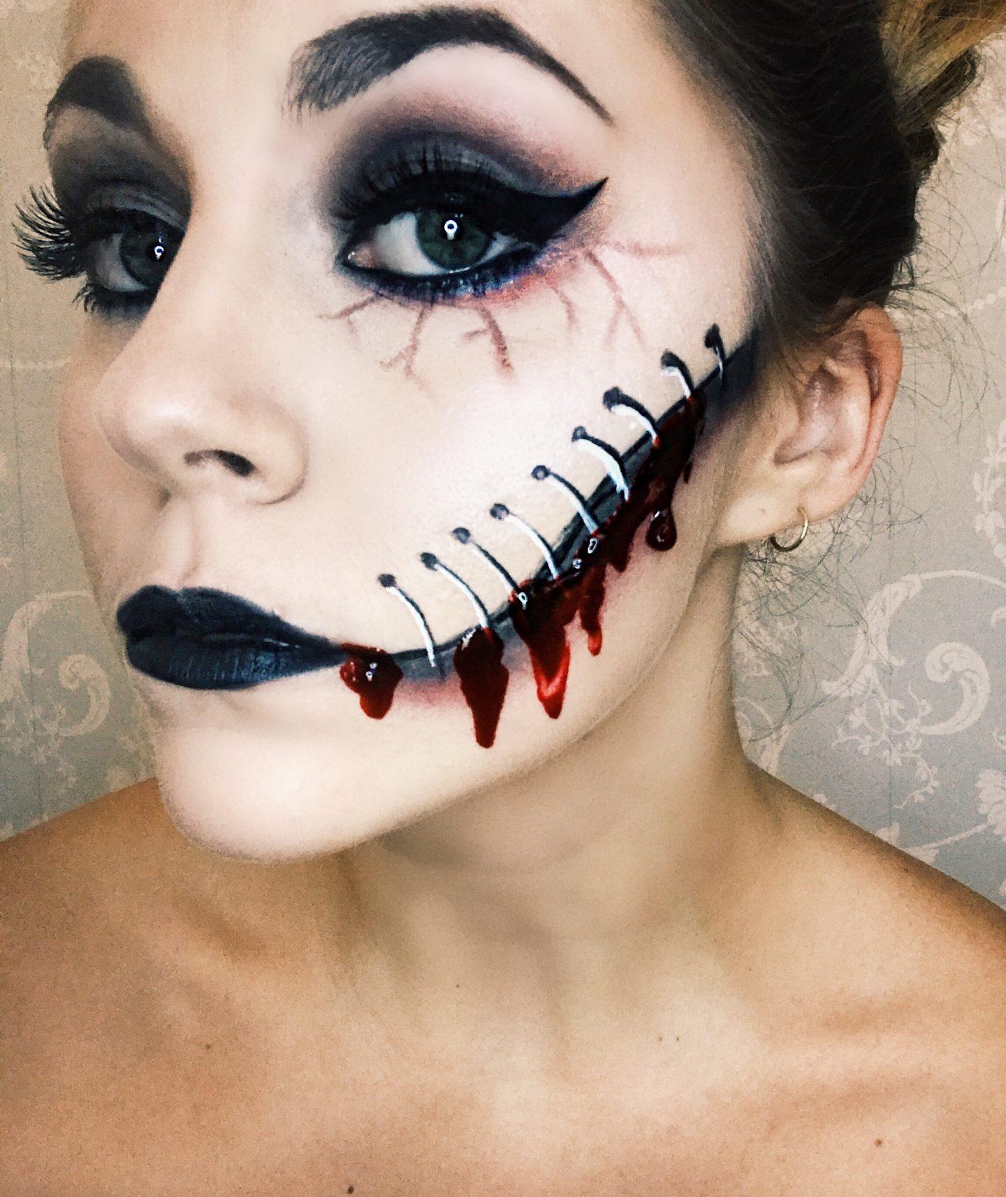 Frankenstein's Bride Makeup   Gory Halloween Tutorial