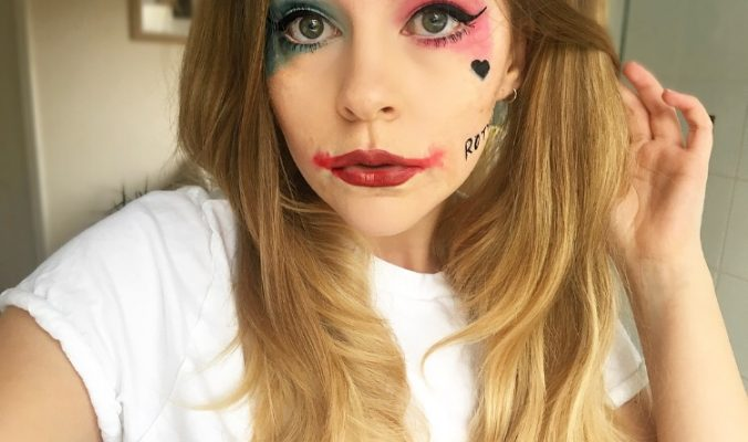 Harley Quinn Halloween Makeup | Last Minute Idea