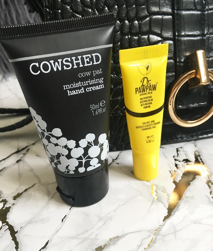 Cowshed Cow Pat hand cream and Dr.PawPaw Original Balm