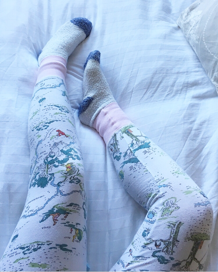 pyjamas and fluffy socks