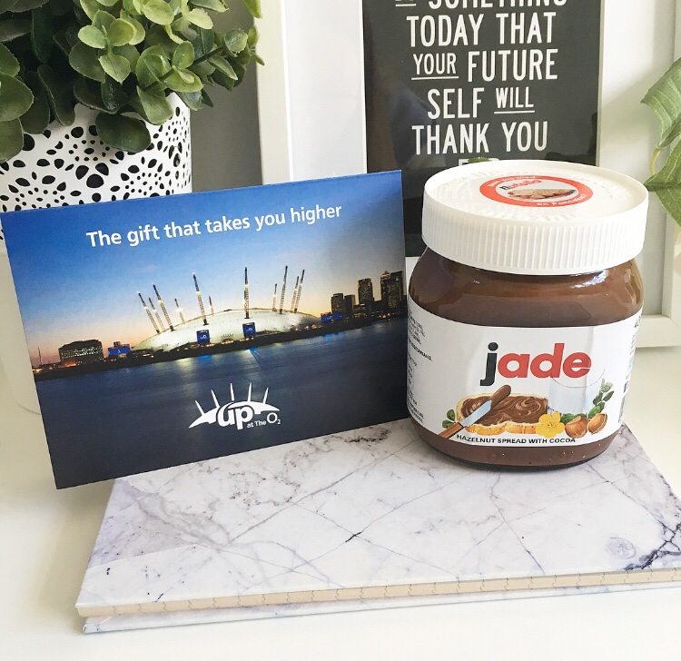 Walk over the O2 and personalised Nutella
