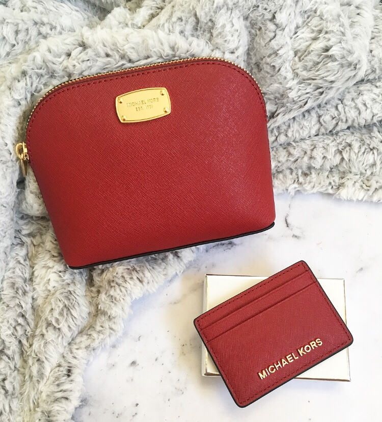 Michael Kors card holder & makeup bag