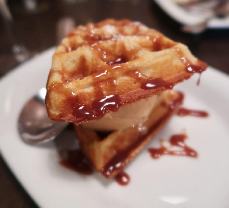 absurd bird caramel waffle