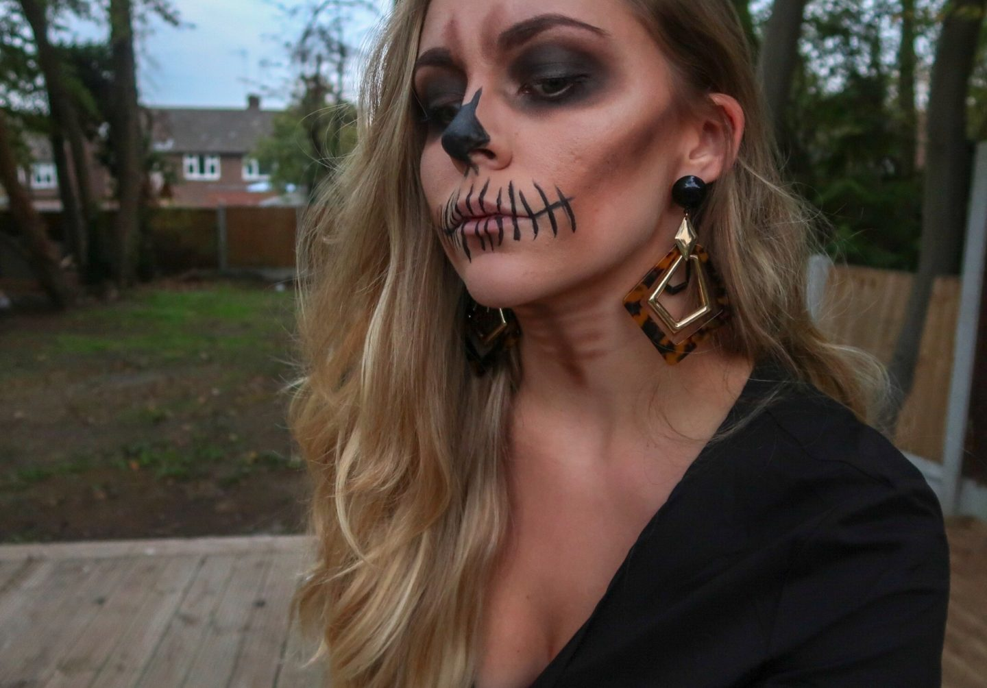 Easy Skull Makeup: Using Products You Already Own